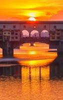 Puesta de Sol en el Ponte Vecchio - Florencia