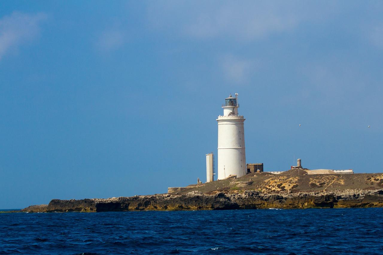 Faro de la Isla de Tarifa.